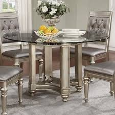 circular dining room coaster danette circular glass dining table coaster fine furniture