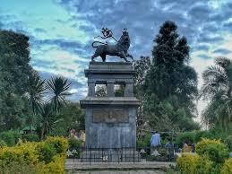 lion of judah statue lion of judah and legehar station picture of menelik ii