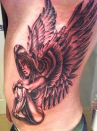 fallen angel tattoo design back