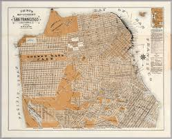 San Francisco California Map by City And County Of San Francisco California David Rumsey