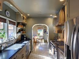 Galley Kitchen With Island Layout Small Galley Kitchen Decorchic Kitchen Design And Decoration With
