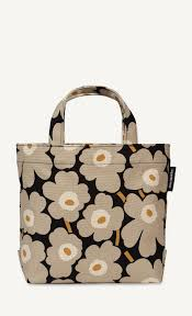veronika mini unikko handbag black sand gold marimekko com