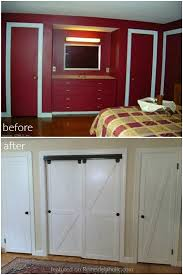 How To Build A Sliding Barn Door How To Make Bypass Closet Doors Into Sliding Faux Barn Doors