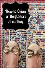 Clean Area Rug How To Clean A Thrifted Area Rug Cleaning Organizing And Diy