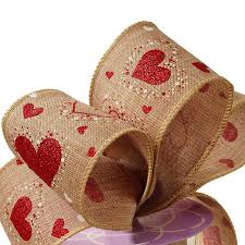 rustic ribbon heart pattern wired rustic ribbon from ribbons