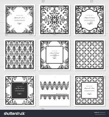 filigree frames decorative panels set laser stock vector 593978192