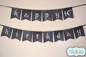 Happy Birthday Halloween Banner by Chalkboard Happy Birthday Banner Rustic Birthday Banner