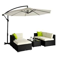 Wicker Outdoor Patio Furniture - outsunny 5pc rattan wicker conservatory furniture garden corner