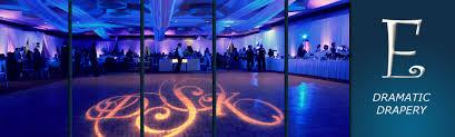 wedding drapery michigan up lighting wedding company room drapery name monograms