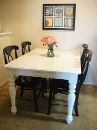 Refurbished Dining Tables Like The Contrast Of The Black Chairs With The White Table House