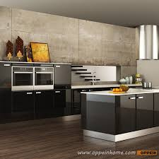 Black Kitchen Cabinets DesignIsland Kitchens Design Oppeinhomecom - Black lacquer kitchen cabinets