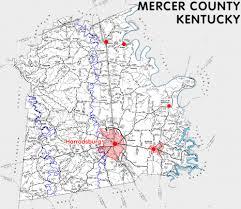 mercer map mercer county kentucky kentucky atlas and gazetteer