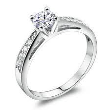 white gold promise rings luxury h a swiss diamond setting promise ring in 925 sterling