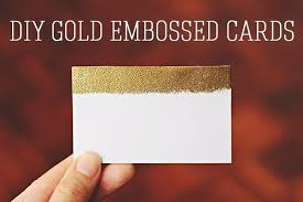 gold embossed cards how to make a business card papercraft on