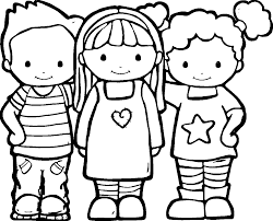 coloring pages friends funycoloring