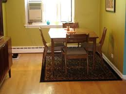 area rug dining table under size round how big room rugs tables
