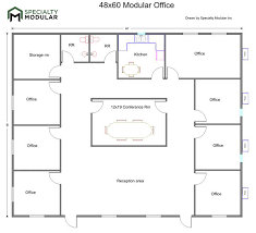 open office floor plan specialty modular inc floor plans for prefab buildings