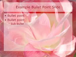romantic flowers powerpoint template