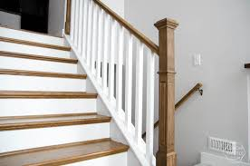 Banister Ends How To Install A Wooden Handrail On Split Level Stairs Lemon Thistle