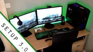 gaming setup room tour 2017 small room setup youtube