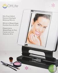 amazon ott lite natural daylight makeup mirror black chrome 26 watt personal makeup mirrors beauty