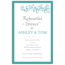 rehearsal dinner invitations vine turquoise rehearsal dinner invitations paperstyle