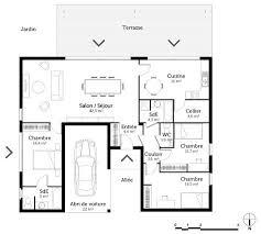 plan maison plain pied en l 4 chambres superb plan maison de plain pied 4 chambres 6 plan maison en u