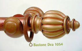 bastoni per tende in legno prezzi bastone per tenda in legno anticato dea 35mm movimento a corda e