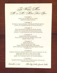 Example Of Wedding Program Menus And Programs Maureen H Hall Stationery And Invitations