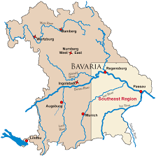 map of germany map of german castle locations in bavaria bayern with links to