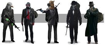 gas mask costume photo gas mask men assault rifle robbers masks costume