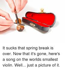 Smallest Violin Meme - it sucks that spring break is over now that it s gone here s a song