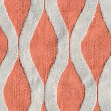 Red Patterned Rug District17 Squiggle Coral Rug Patterned Rugs