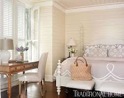 home office with benjamin moore simply white walls and trim wood