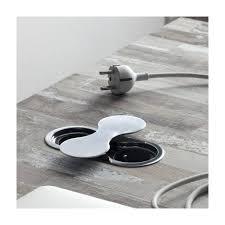 prise electrique encastrable plan de travail cuisine bloc prise eight à rotation accessoires cuisines