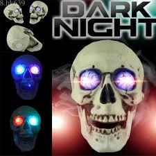 life size plastic human skull decor lights prop skeleton head