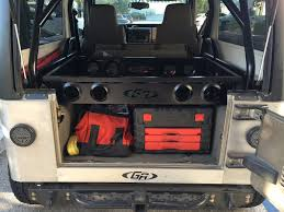 lj jeep genright cargo rack for jeep jk tj lj yj genright jeep parts