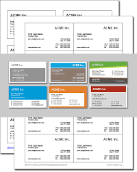 Microsoft Excel Business Templates Business Card Templates For Word Free And Software