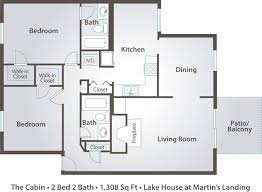 Metal Building Home Floor Plans by 2 Bedroom 2 Bath Floor Plans Daily House And Home Design