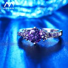 white gold and purple wedding mdean white gold color rings for women purple aaa zircon jewelry
