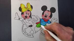 coloring book mickey mouse minnie mouse