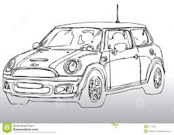 car drawing car drawing mini stock photography image 8170752