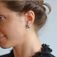 usher earrings sterling silver cat two way stud earrings by martha jackson