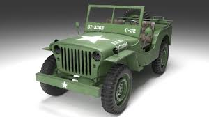 army jeep drawing jeep 3d models cgtrader com