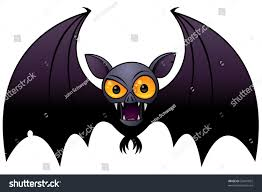vector cartoon illustration halloween vampire bat stock vector