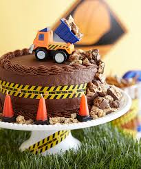 construction cake toppers construction zone chocolate cake with printable decorations