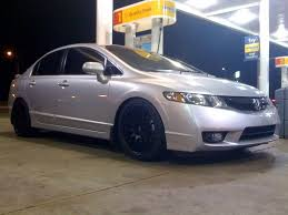 2009 honda civic wheels pic request silver sedans on all black wheels 8th generation