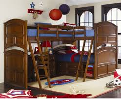 Make Wood Bunk Beds by L Shaped Bunk Beds Make The Room More Large Modern Bunk Beds Design