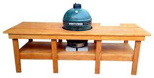 large green egg table big man s green egg table onpoint wood design