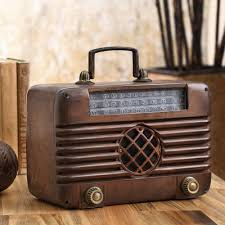 33921 olde tyme radio spi bluetooth speaker vintage spi home